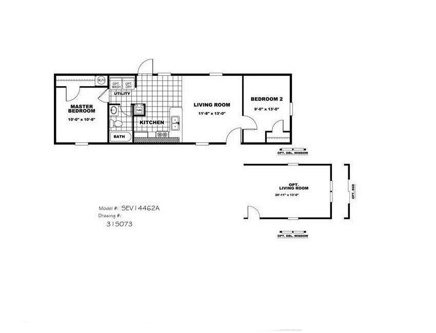 Cmh ultimate value ult14462a mobile home for sale for Ultimate floor plans