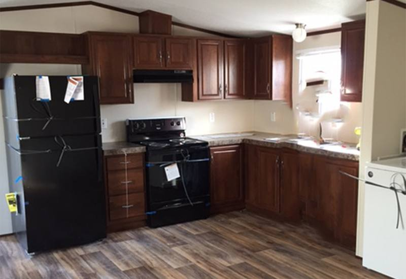 Fleetwood Weston WE16764W Mobile Home Kitchen