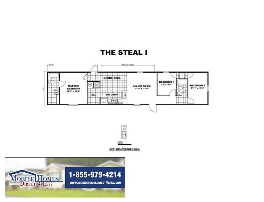 TRU14663A-Steal-ndedFloorPlan-MobileHomesDirect4Less - Mobile ... on tru manufactured home model tyson, tru mh tyson, tru mh ali, tru mh white pine tn,