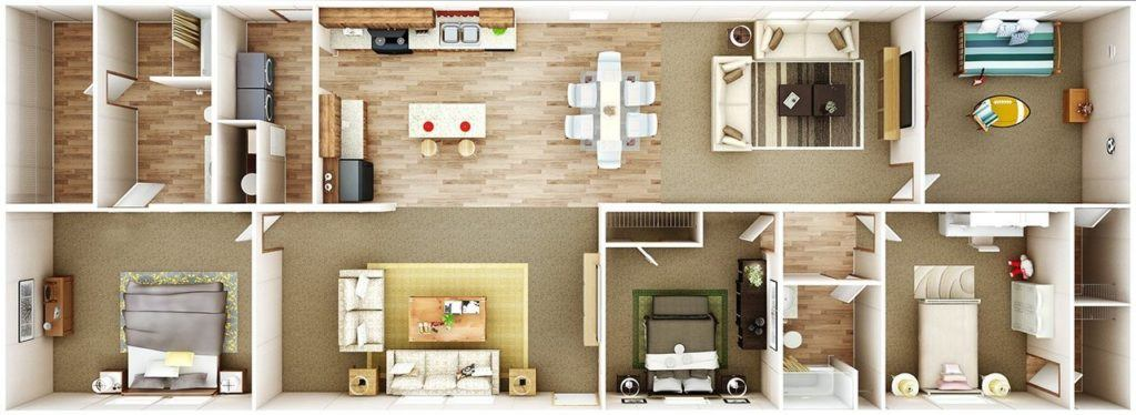 TruMH Steal II / Wonder Mobile Home 3D Floor Plan