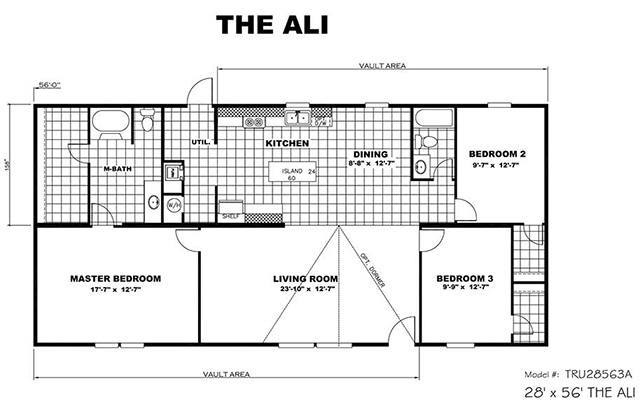 TruMH Ali / Thrill Mobile Home Floor Plan