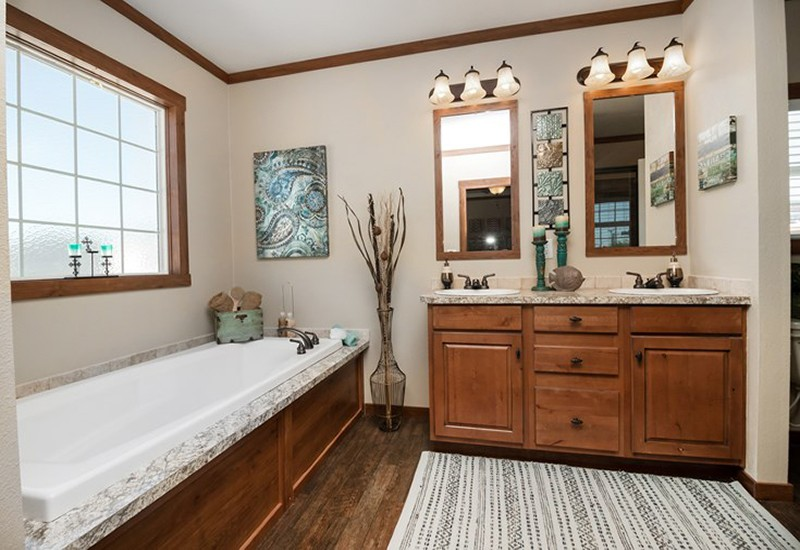 The Snead DEV32683A Mobile Home Master Bathroom