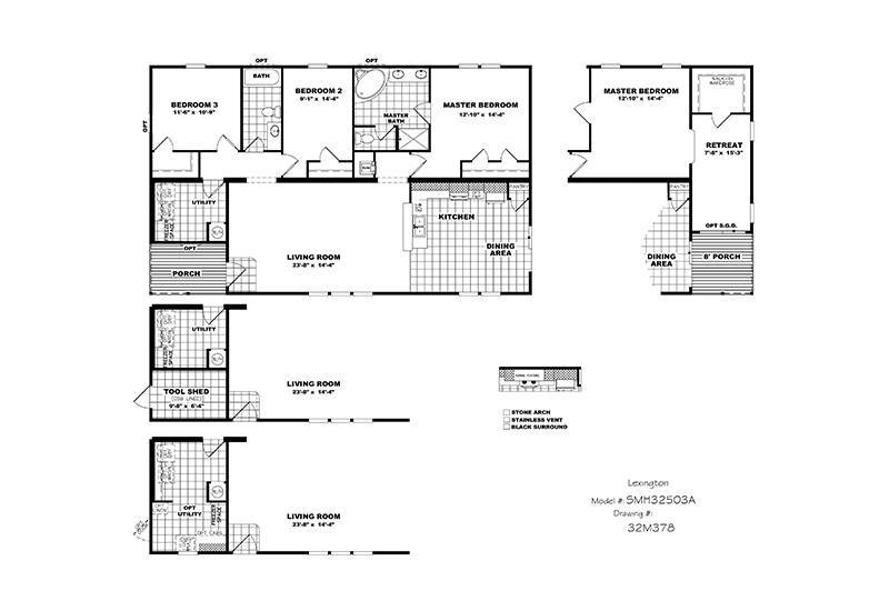 Picture Of CMH Schult Lexington (Stretch) Mobile Home Floor Plan