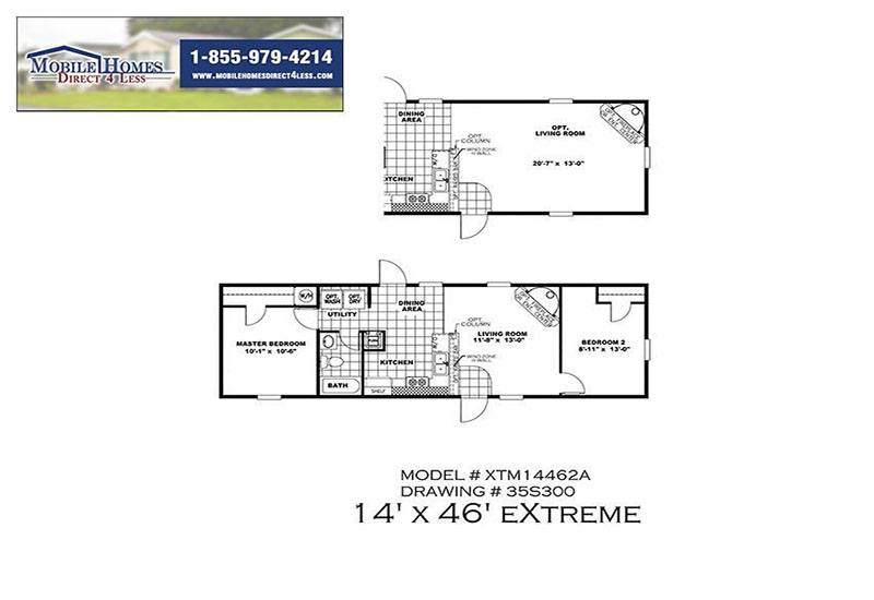 Bonham Spirit Mobile Home Branded Floor Plan