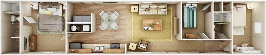 TruMH Frazier / Euphoria Mobile Home 3D Floor Plan