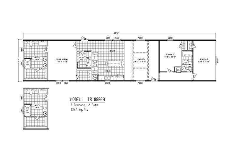 1880 texas ranch tr18803a mobile home for sale Texas ranch floor plans