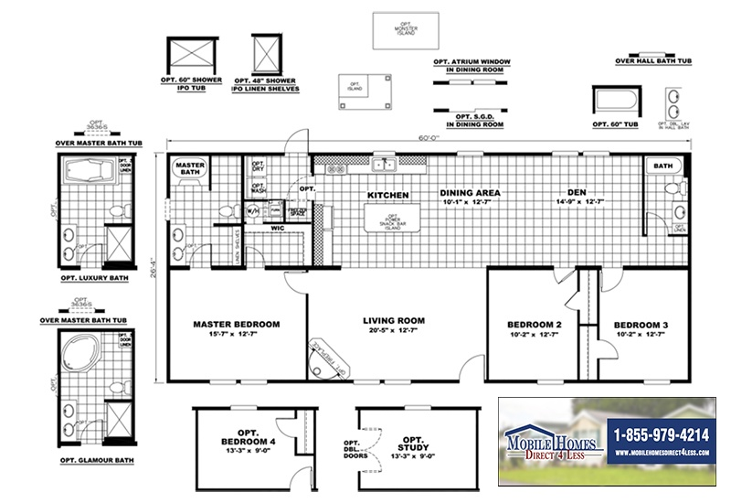 CMH Sundowner SLT28603A Mobile Home Branded Floor Plan