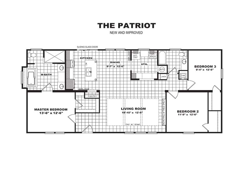 PATRIOT Home Floor Plan - Revised