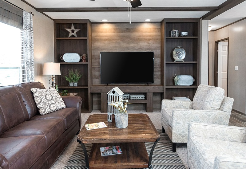 Power House Mobile Home Living Room