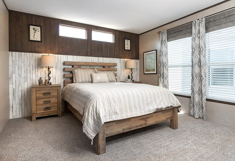 Power House Mobile Home Master Bedroom