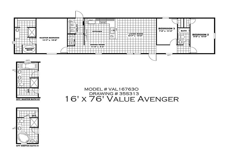 Cmh Value 16763o 3 Bed 2 Bath Mobile Home For Sale