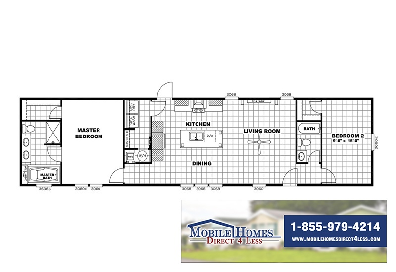 mini RESOLUTION 16682X Mobile Home Branded Floor Plan