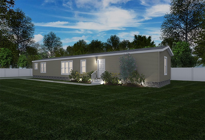 Mini Resolution Mobile Home Exterior Night