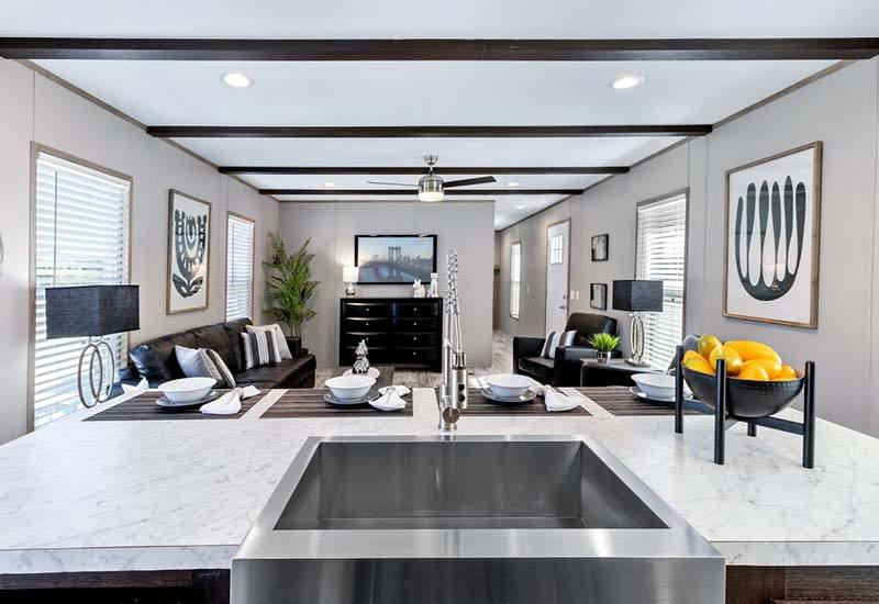 Inspiration - Kitchen Sink and Living Room